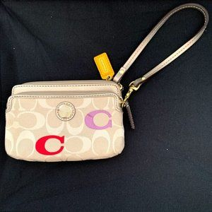 Coach Poppy Embroidered Signature Wallet
